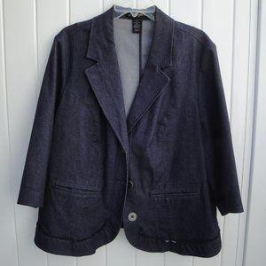 LANE BRYANT 100% Cotton Chambray Blazer size 20